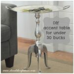 diy metal accent table dandelion patina bucks rectangle patio cover white resin wicker side drawer nightstand chrome nautical lights tablecloths for large round tables unique 150x150