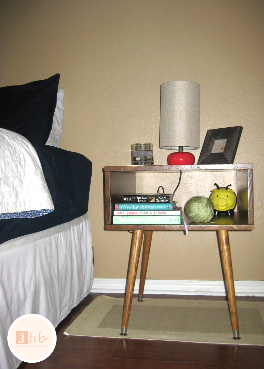 diy mid century style nightstand jamie home blog table done modern nightstands tutorial pottery barn sectional full size daybed with twin trundle simple headboard plans round