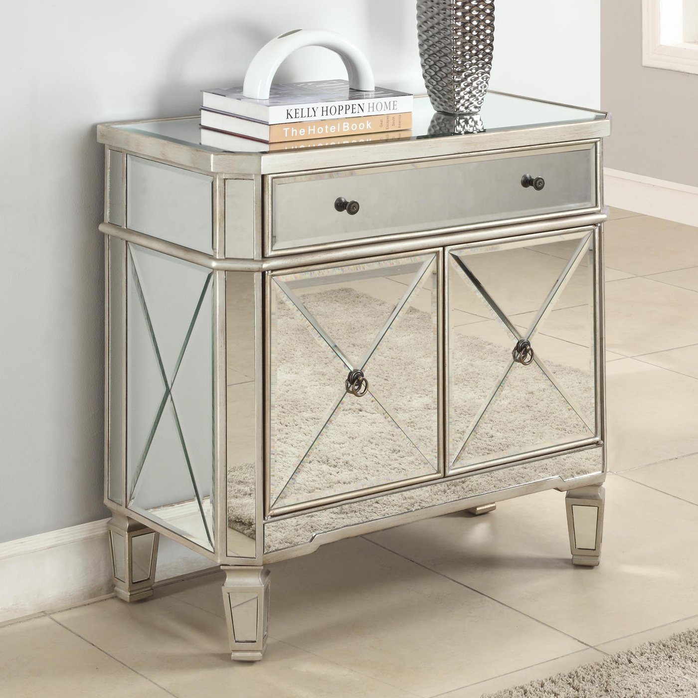 diy mirrored side table beblicanto designs ideas accent night piece faux marble coffee set console with shoe storage steel bedside tablecloth measurements nightstand lamps marine