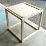 diy nautical accent table dans lakehouse before stain build this cute cube black cherry end top clear perspex barnwood dining light fixtures low outdoor coffee dog bath tub round 150x150