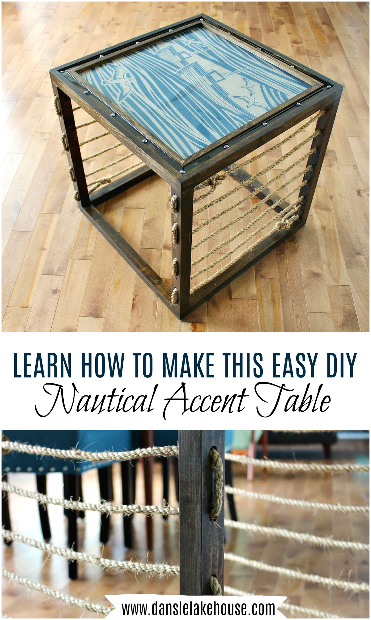 diy nautical accent table dans lakehouse learn how build side unique coffee tables and end tall wooden plant stand contemporary floor lamps with storage light shade rona patio