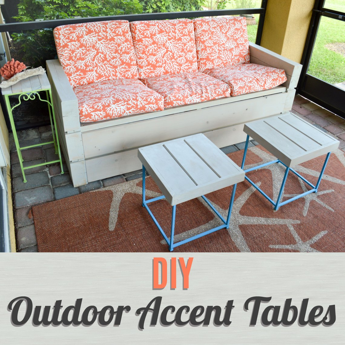 diy outdoor accent tables better when built lsidetablesfeature after finished the sofa for lanai family needed some because are always out eating breakfast white home accessories