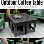 diy outdoor coffee table with hidden side tables for the home ideas looking easy this plans shows how make small perfect patio deck plus features pottery barn living room chairs 150x150
