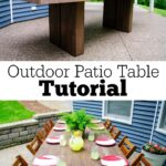 diy outdoor patio table tutorial decor and the dog accent garden target white round wicker dining set home interior decoration ideas with ice bucket mid century kitchen unfinished 150x150
