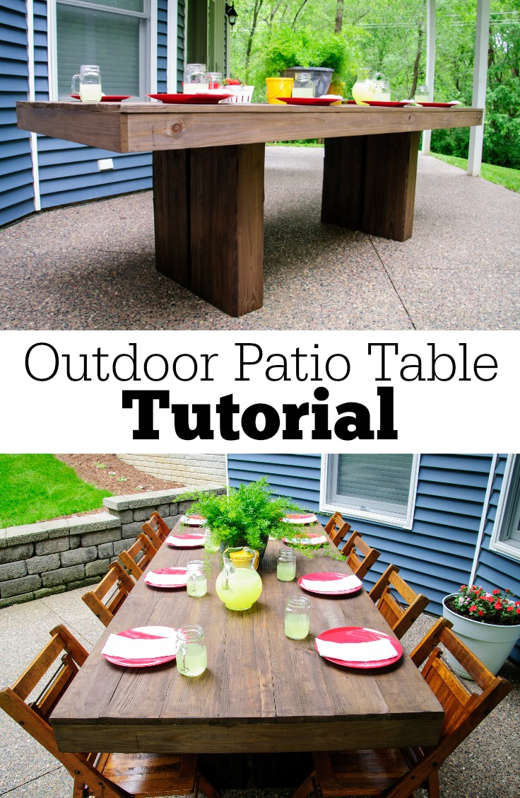 diy outdoor patio table tutorial decor and the dog accent garden target white round wicker dining set home interior decoration ideas with ice bucket mid century kitchen unfinished