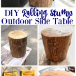 diy outdoor rolling stump side table the happy housie super thrifty and easy project dining bench set coffee lamp tables accent ideas modern classic furniture antique pedestal end 150x150