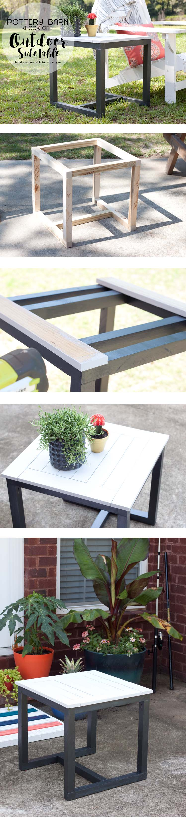 diy outdoor side table pottery barn knockoff carmen knock off small accent cabinet with doors blue wood coffee antique pedestal end mini tiffany lamps waterproof garden furniture