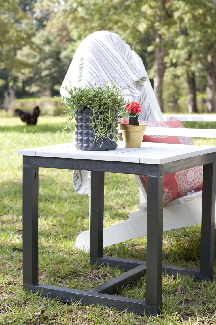 diy outdoor side table pottery barn knockoff knock off green wine bar furniture white counter height black with drawer small stackable tables ikea bedside desk legs wood