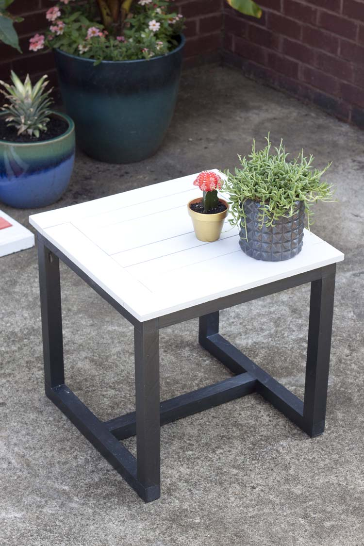 diy outdoor side table pottery barn knockoff knock off jamie accent black wrought iron coffee with glass top bronze lamps for bedroom washing machines affordable living room