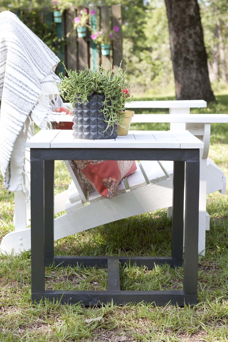 diy outdoor side table pottery barn knockoff knock off metal antique round marble top screw desk legs hampton bay runner quilt patterns target file cabinet reproduction designer