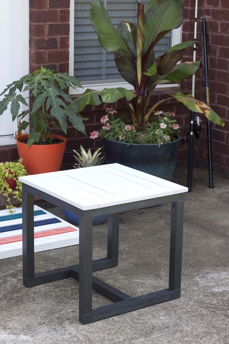 diy outdoor side table pottery barn knockoff knock off small accent thin entryway dining light fixture concrete coffee sofa and chair sets marble chrome target brass lamp ikea