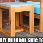 diy outdoor side table with concrete top challenge how accent plans build office end sliding barn doors butler pottery reclaimed wood decoration ideas mosaic garden and chairs 150x150