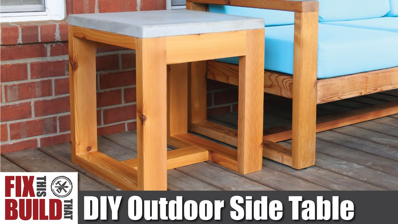diy outdoor side table with concrete top challenge how accent plans build office end sliding barn doors butler pottery reclaimed wood decoration ideas mosaic garden and chairs