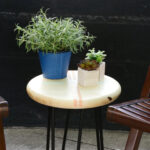 diy outdoor side table with hairpin legs better homes gardens leg accent green container plants blue white round end drawer wooden trestle modern nautical style tables pottery 150x150