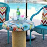 diy outdoor spool table ribbons glue blog tables side turn wooden seat made with fabric and rope forwhatmattersmost target plant holder marble chrome coffee small accent blue wood 150x150