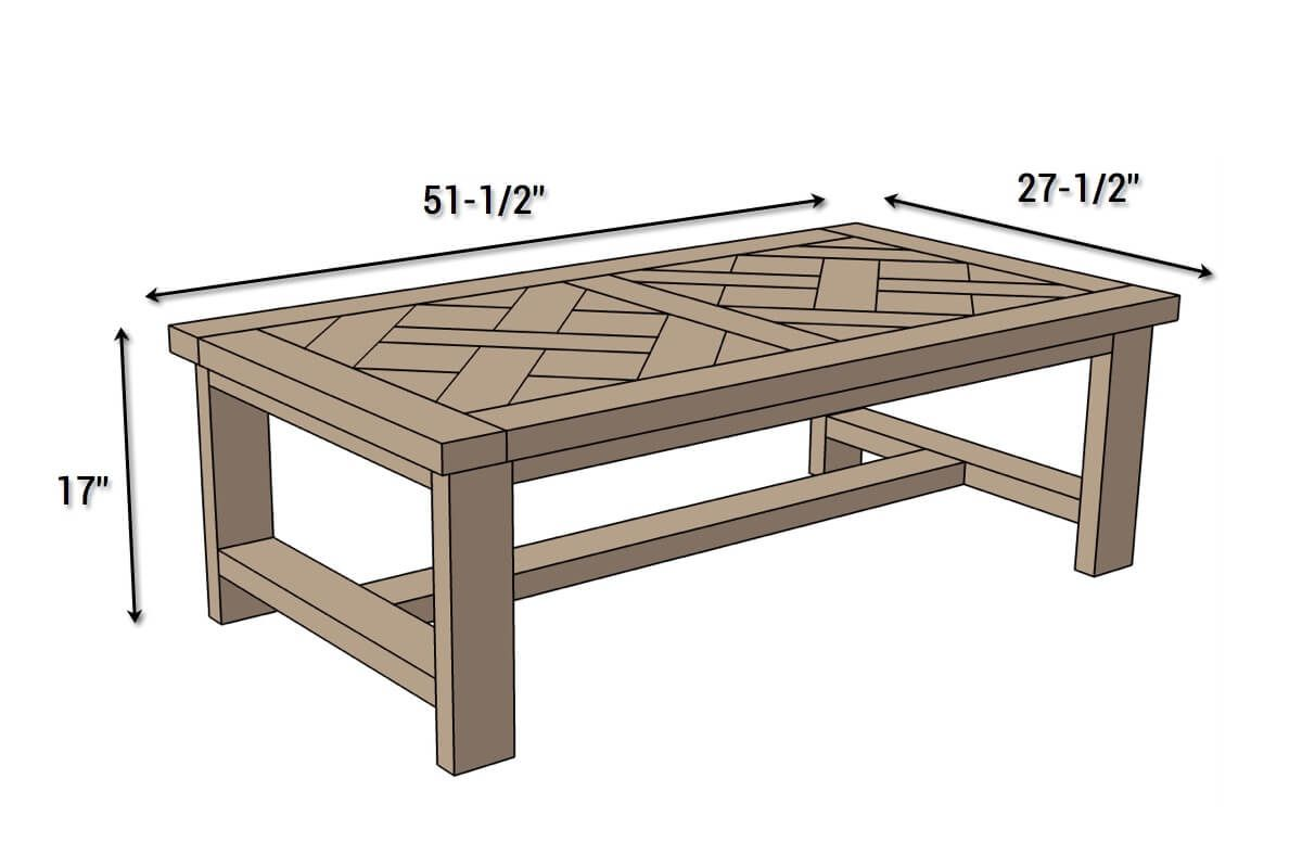diy parquet coffee table free plans wood projects and end dimensions mission style oak tables black glass lamp rustic target kitchen small wooden stool side lights linen runner