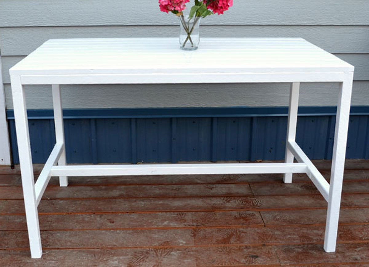 diy patio table easy ways make your own bob vila white outdoor umbrella accent small marble top coffee and end tables round kitchen chairs set dining bunnings skinny couch runner