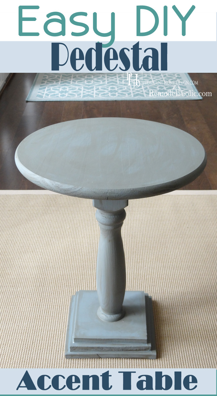 diy pedestal accent table remodelaholic bloglovin easy round square tablecloth sizes tray target white bedside small metal garden side modern dark wood coffee barn kitchen chairs