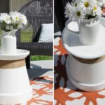 diy projects terracotta pot accent table idea easy and budget friendly side ideas try out ashley furniture end tables coffee rose gold floor lamp rectangle patio cover mini 150x150
