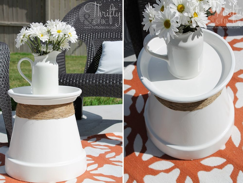 diy projects terracotta pot accent table idea easy and budget friendly side ideas try out ashley furniture end tables coffee rose gold floor lamp rectangle patio cover mini