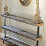 diy reclaimed wood console table the reedy review decorating small thin accent narrow shelf things have changed much for and past few months ing home getting dog been such 150x150