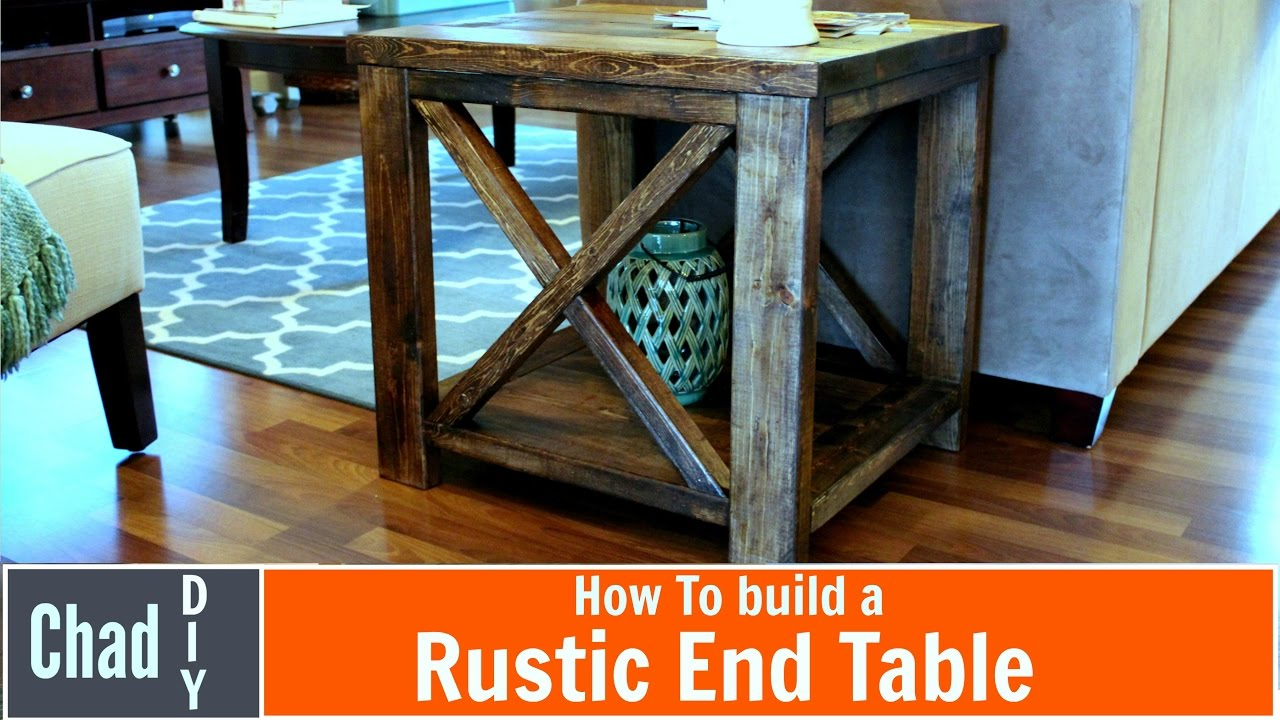 diy rustic cross end table farmhouse accent bunnings garden seat ashley chairside small lamps metal outside white round side tiffany pond lily lamp west elm square acrylic ikea