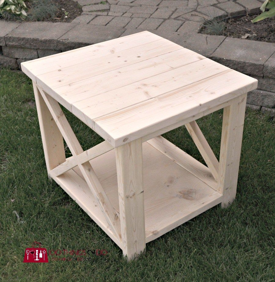 diy rustic side table coffee outdoor plans from ana white copper end tables black and silver bedside lamps screw legs nautical bathroom lighting round accent modern home furniture