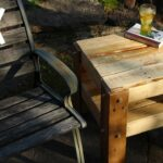 diy rustic side table made from free pallets tall outdoor accent cherry living room tables antique wooden ladder inch tablecloth glass with drawers yellow furniture dining 150x150