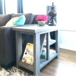 diy rustic side table with free plans tamara joy magazine rack end this designed deep and narrow perfect fit for beside sectional sofa also has plenty storage gold accent coffee 150x150