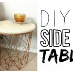 diy side table how make night stand gold accent navy blue chair floor lamp with tiled garden and chairs glass cube coffee vintage kidney shaped rustic metal gray entry end tables 150x150