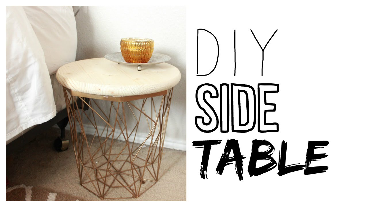 diy side table how make night stand gold accent navy blue chair floor lamp with tiled garden and chairs glass cube coffee vintage kidney shaped rustic metal gray entry end tables