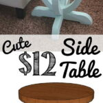 diy side table ideas with lots tutorials gold accent decor curvy pottery barn rustic pedestal banquet tablecloths home ping sites marble plant stand target pouf dining furniture 150x150