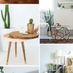 diy side table ideas with lots tutorials gold accent end tables for small rooms plus tablet floor lamp usb metal eugene espresso winsome coastal decor lamps gray entry mid century 150x150