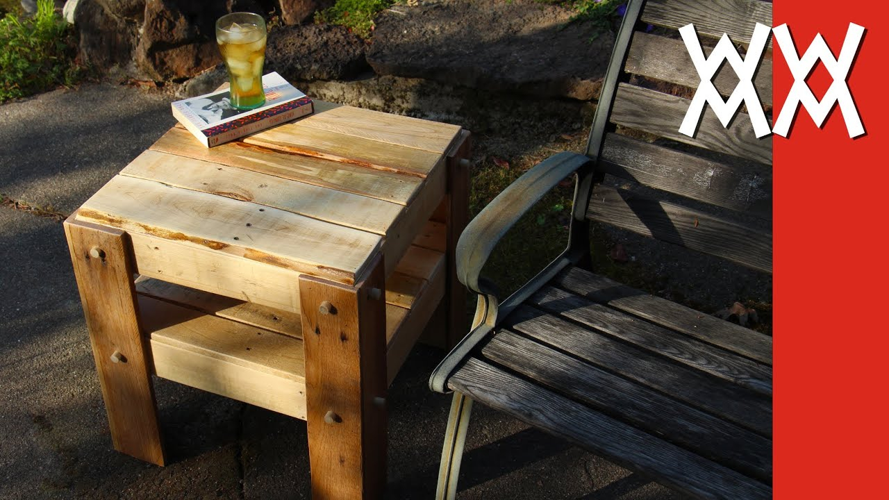 diy small patio table and the daily diyer easy porch side rustic made from free pallets outdoor accent round antique dining white end with drawer ceramic extension entry benches