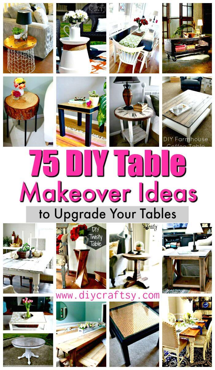 diy table makeover ideas upgrade your tables crafts coffee side nightstand and projects accent half blue mosaic black distressed simple end plans teal chairs commercial nic