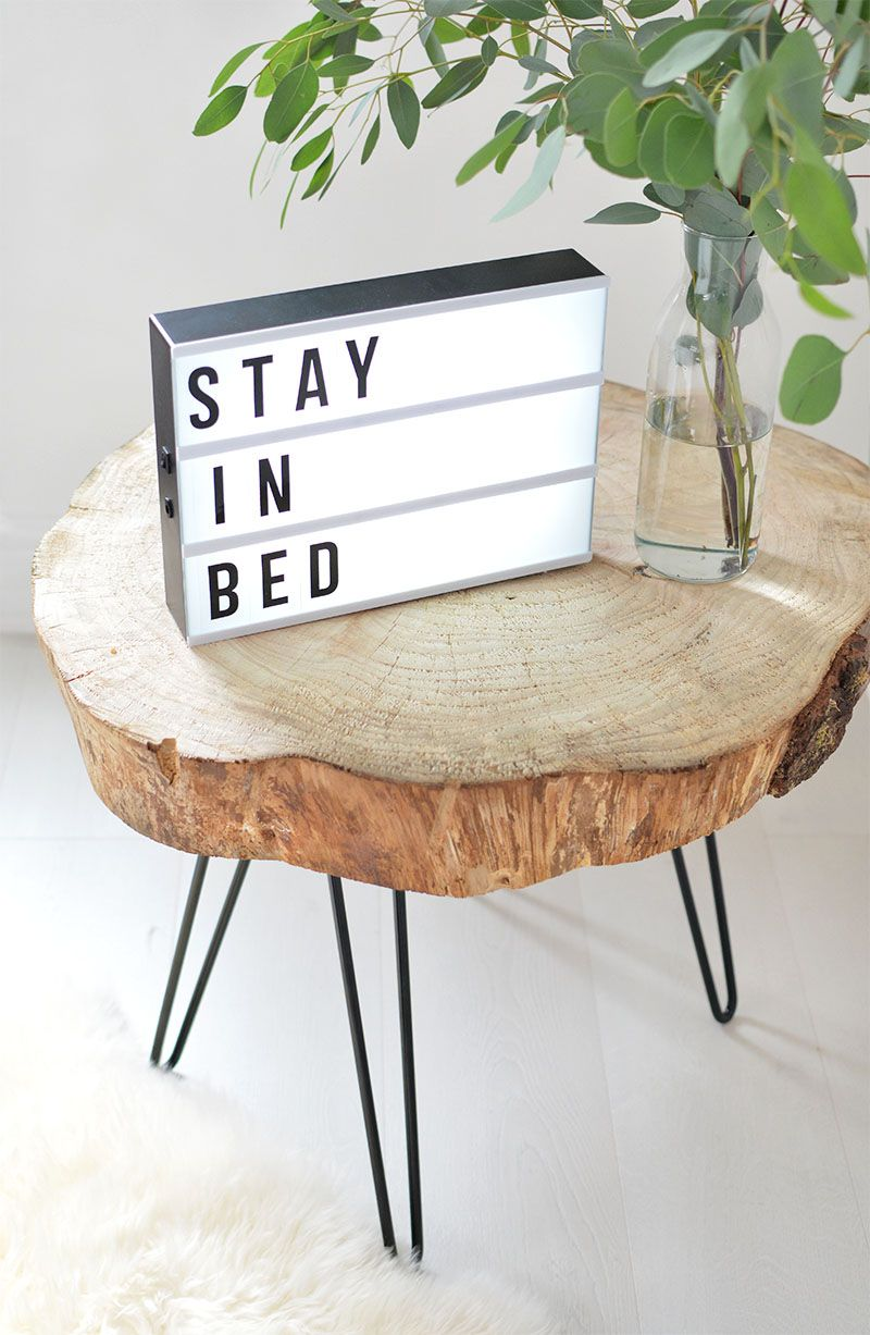 diy tree slice hairpin table nic pretties wood home rustic corner accent this leg makes great piece sofa black dining room chairs brass brown wicker outdoor furniture decorative