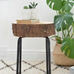 diy tree stump decor ideas that usher budget wood slice stool and side table has simple elegant design accent view gallery coral home accessories furniture blankets wine rack teak 150x150
