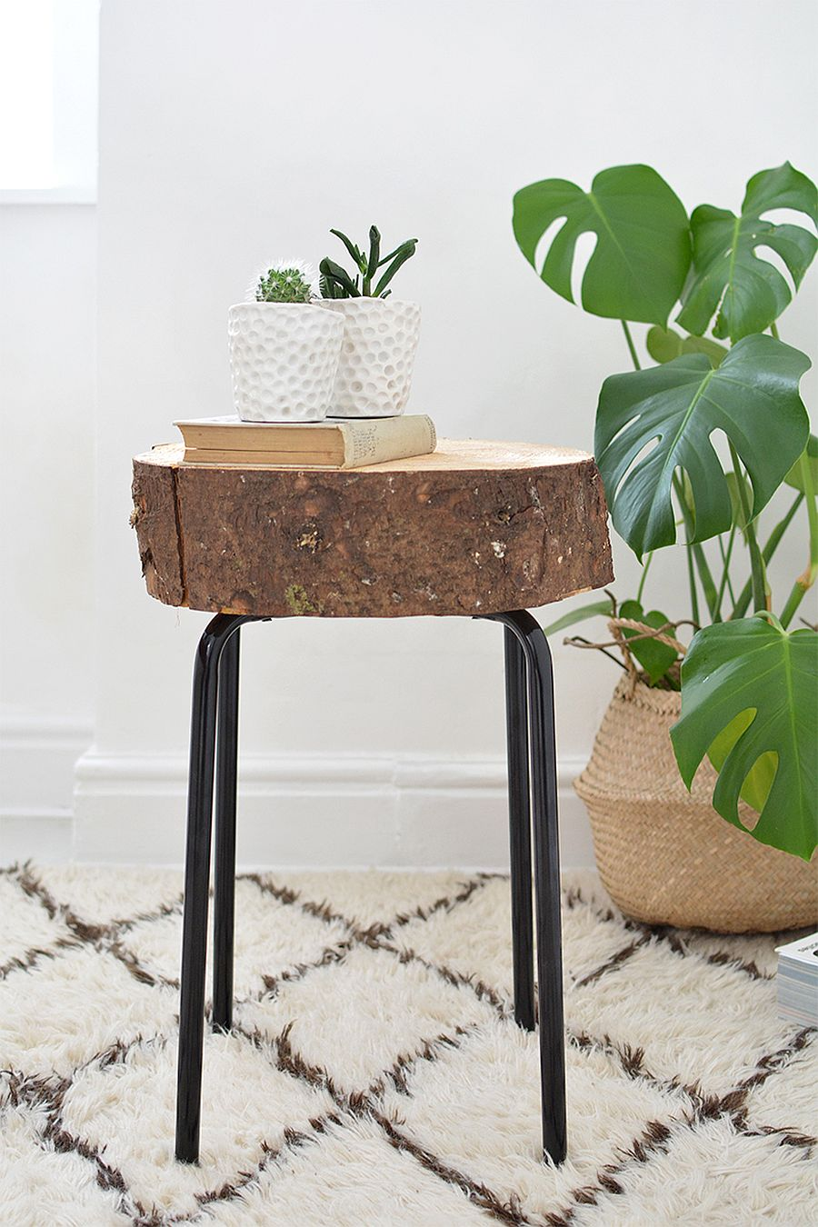 diy tree stump decor ideas that usher budget wood slice stool and side table has simple elegant design accent view gallery coral home accessories furniture blankets wine rack teak