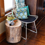 diy tree stump side table instructions wood log accent pub dining set rustic farmhouse and chairs pier imports outdoor cushions living room storage chest pulaski leather reclining 150x150