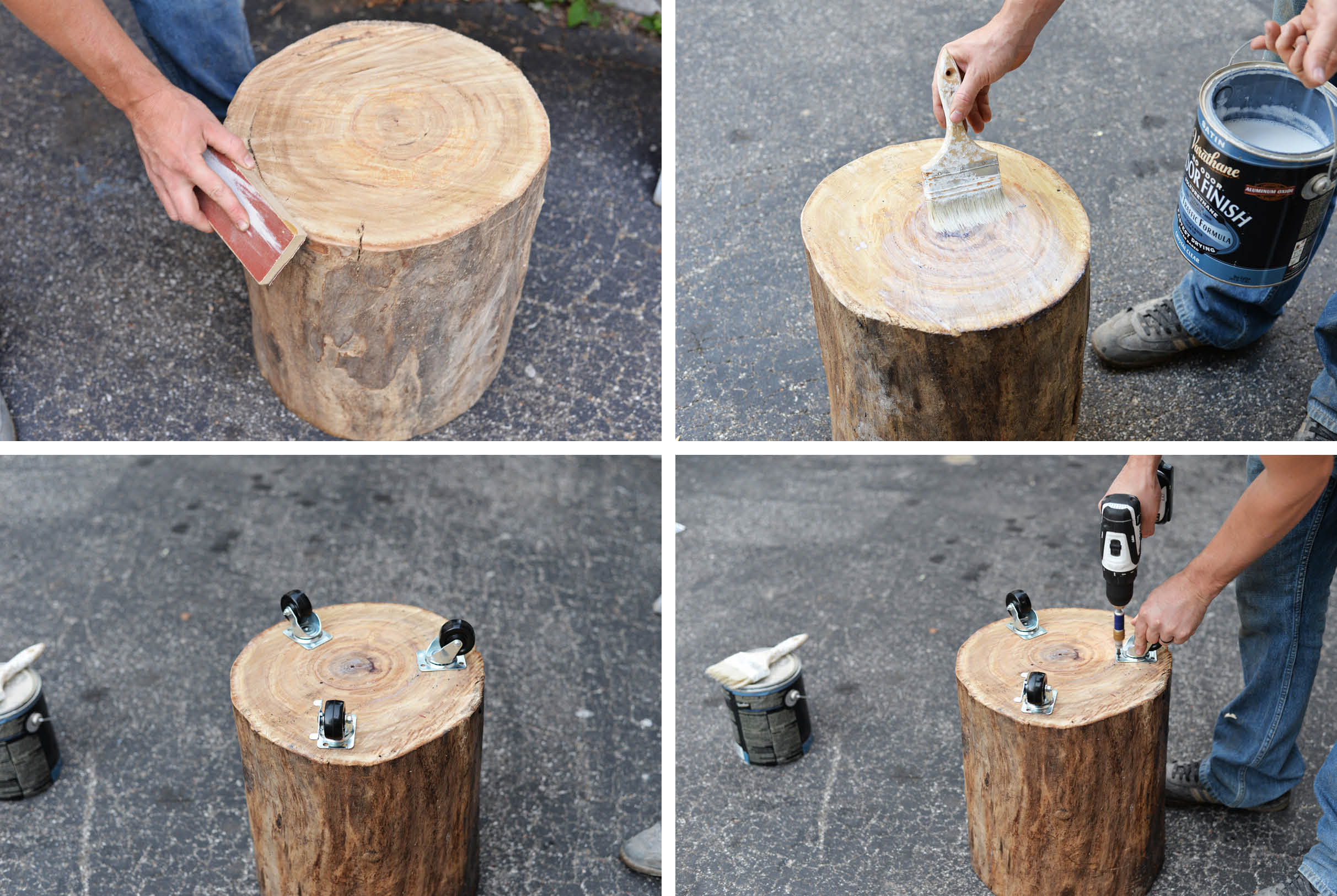 diy tree stump side table wood accent ikea outdoor chairs painted nightstands white patio west elm industrial cute bedside lamps drawer file cabinet battery operated touch cream