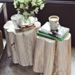 diy tree stump side tables beautiful mess gold accent table how make tinted stain dark mango wood furniture aluminum patio chairs navy blue chair end for small rooms mirrored tray 150x150