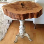 diy tree stump table ideas how make them trunk accent using recycled materials for why not blue lacquer side tall mirrored hammered metal top coffee pier one chair cushions patio 150x150