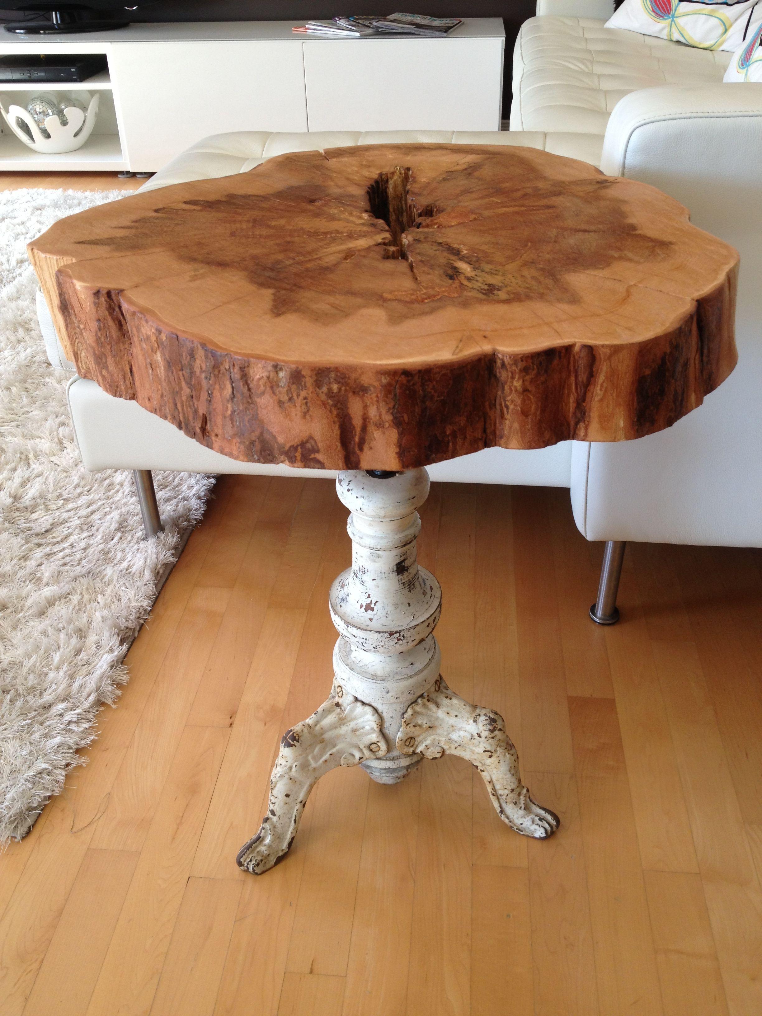 Wood Slab Accent Table Grottepastenaecollepardo