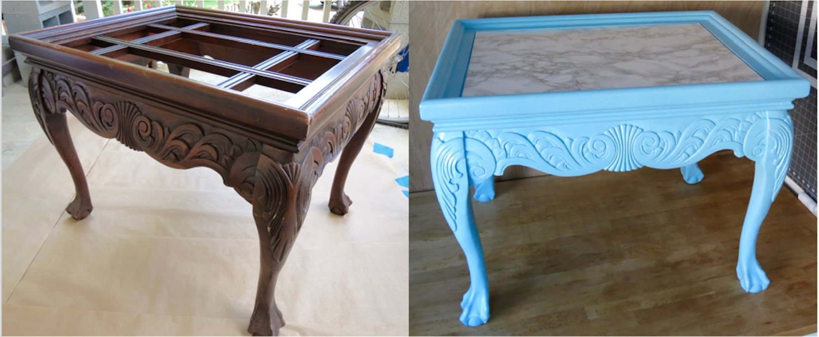 diy upcycled how redo trash treasure end table redoing tables solid black coffee arts and crafts furniture inch round accent baby chair seat pallet ideas hobby lobby coupon code