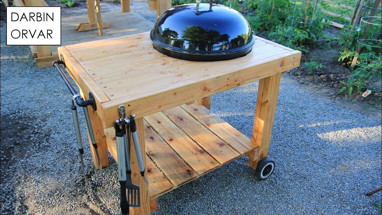 diy weber grill cart bbq station outdoor side table for legs tables asian porcelain lamps embroidered tablecloth patio coffee metal accent reasonably furniture round red usb port