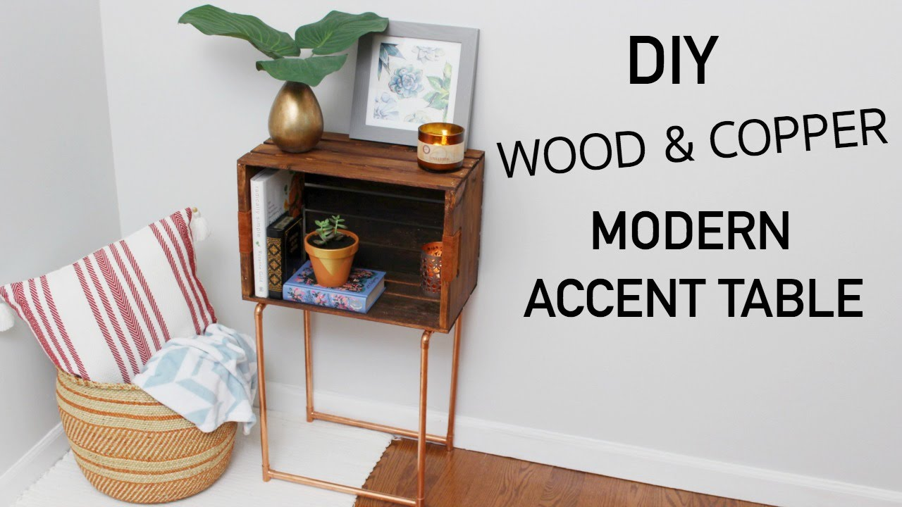 diy wood crate copper modern accent table katie bookser painted trestle wooden dining chairs mirrored coffee target plastic garden furniture chair cover factory acrylic entry