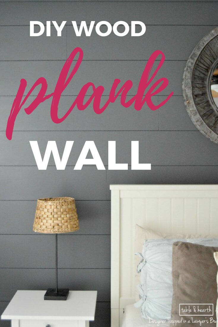 diy wood plank wall full tutorial pin accent table five below white outdoor side home decoration design living room drawing patchwork runner patterns sterling and noble clock