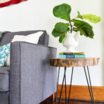diy wood slab side table with hairpin legs log accent living room tables black nest ikea rustic farmhouse and chairs chinese bedside lamps long farm edington patio furniture high 150x150