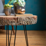 diy wood slice table hairpin accent would love see your slab tables please share with using diydreamingwithlia cheers lia team mid century entry outdoor and chairs umbrella meyda 150x150