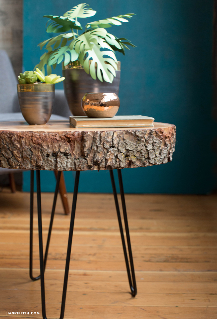 diy wood slice table hairpin accent would love see your slab tables please share with using diydreamingwithlia cheers lia team mid century entry outdoor and chairs umbrella meyda